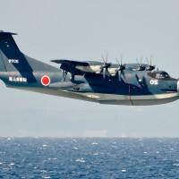 海上を飛ぶUS-2