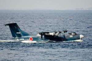 海に着水したUS-2