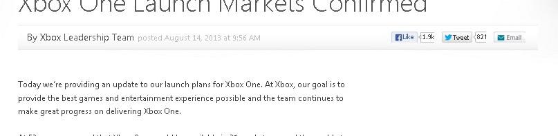 米マイクロソフト、「Xbox One」発売を欧州8カ国で2014年に延期すると発表