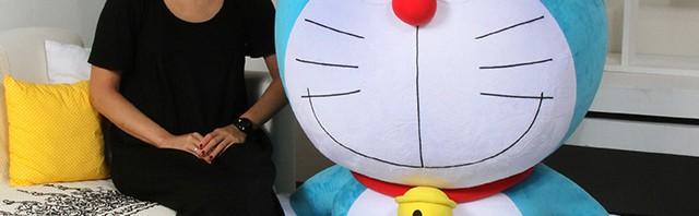 129.3cmの「1/1ドラえもんぬいぐるみ」お値段19万円で発売