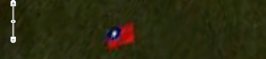 Google Earthで「魚釣島」見ると……え?台湾国旗が貼られてる