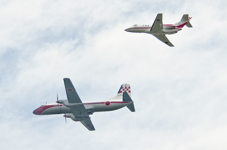 飛行点検隊のYS-11FCとU-125