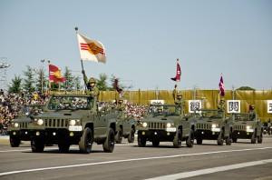 国際派遣部隊の隊旗