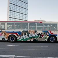 ガルパンラッピングバス