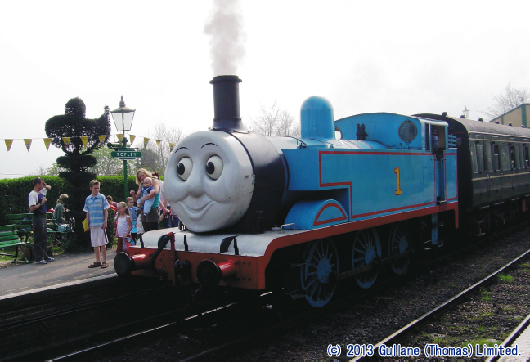 """Day out with Thomas""のトーマス号(イギリス)"