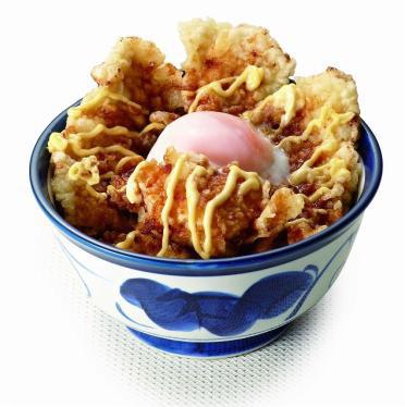 ポテマヨ鶏天丼