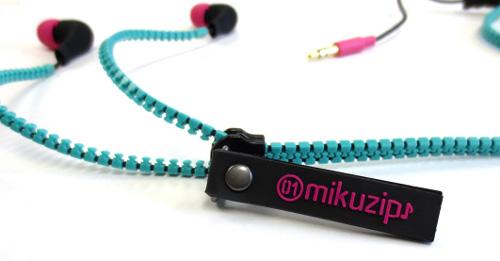 『初音ミク×muzip』コラボイヤフォン