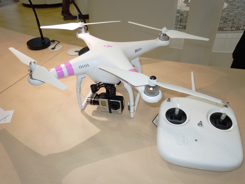 空撮用小型クアッドコプター