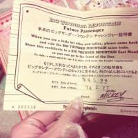 ディズニーランドの約束のチケット