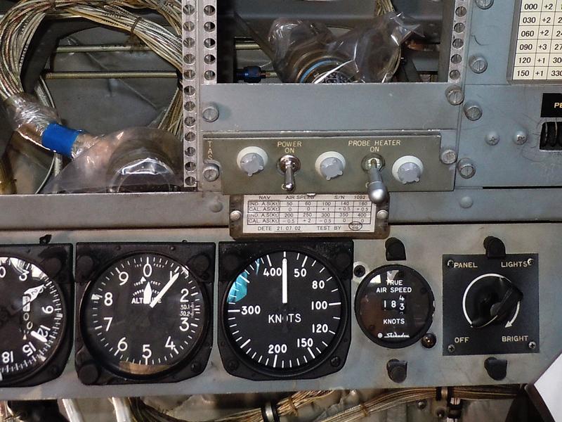 ノット表記の対気速度計