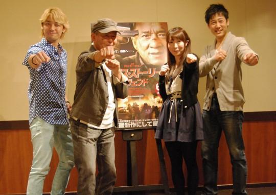 左から、勝杏里さん、石丸博也さん、堀川千華さん、石田智大さん