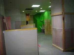 工事中の一階