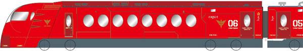 機動戦士ガンダムUC×特急ラピート 赤い彗星の再来 特急ラピート ネオ・ジオンバージョン