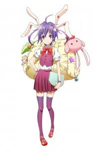 ゲームオリジナルキャラクター「戎子紫兎」。CVはしゃわこさんが担当