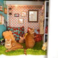愛する飼いネコのためお部屋を手作りしちゃった 心…