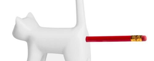 尻に鉛筆を刺すと「ミャー」と敏感に反応する猫