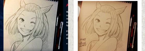 漫画家・橘りたさんイラストがFF14公式イベントサイトに無許可掲載