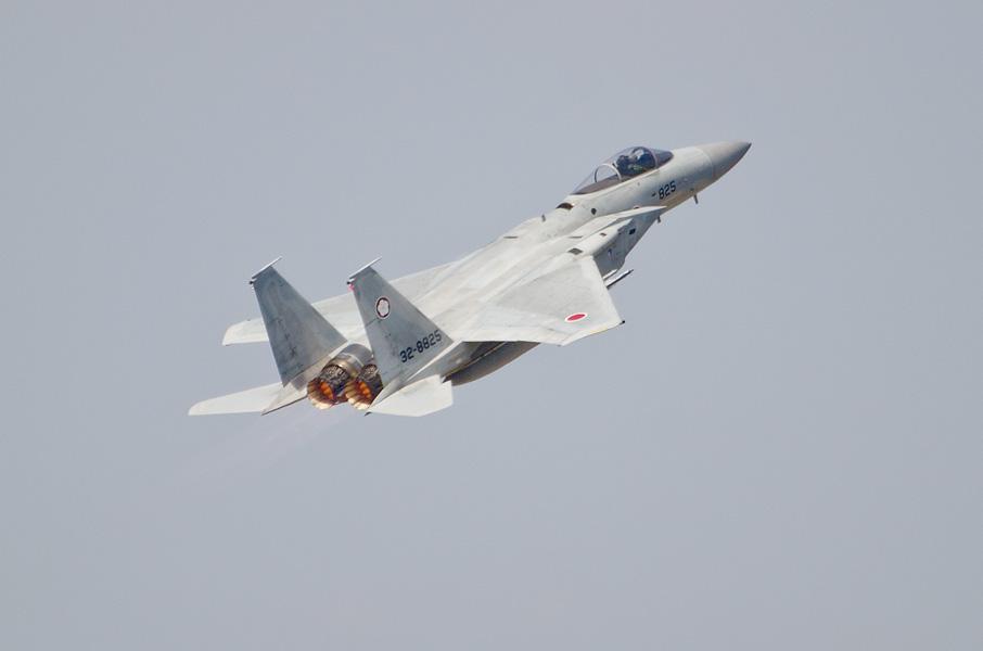 第305飛行隊F-15Jのスクランブル展示