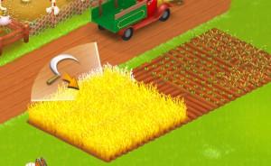 収穫するときも収穫物をタップすると今度は鎌が出てくる