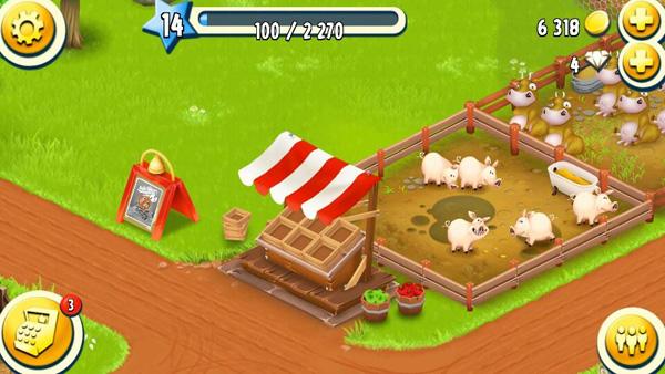 売店は農場の入り口にある。ここでの取引もチャレンジ(クエスト)の一部なので積極的に販売しよう!