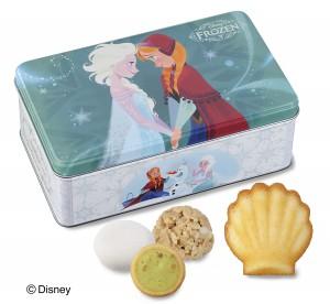 『アナと雪の女王 ギフト缶(4種13個入)』(1296円税込)