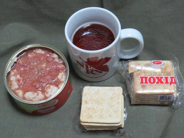 ウクライナ軍レーション昼食試食