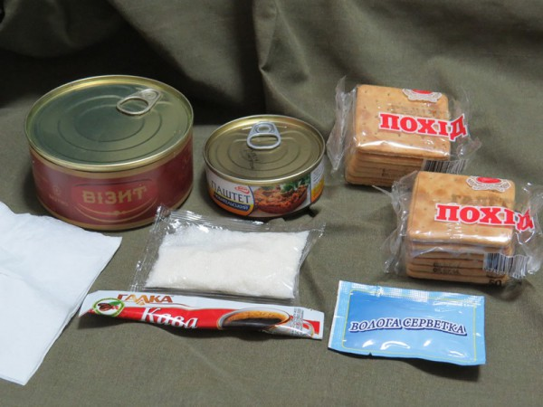 ウクライナ軍レーション朝食
