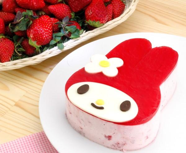 マイメロディ苺ケーキ