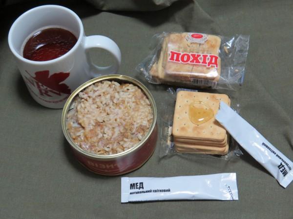 ウクライナ軍レーション夕食試食