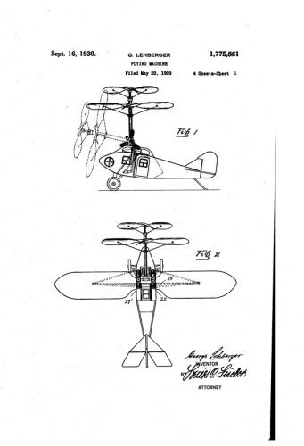 レーバーガーによる最初のティルトローター特許