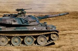 第1機甲教育隊第4中隊の74式戦車
