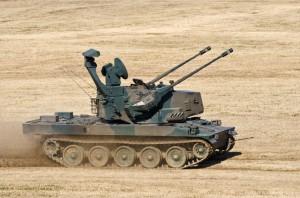 初参加となった高射学校の87式自走高射機関砲