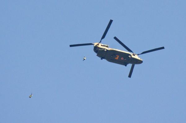 CH-47JAから自由降下!