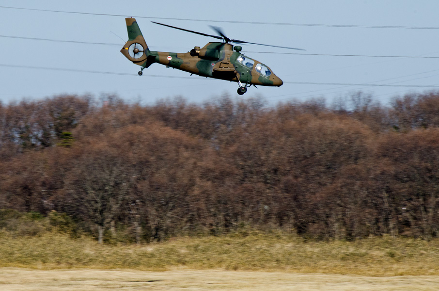OH-1は西部方面航空隊からの借用機材