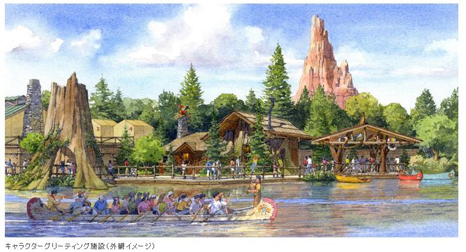 東京ディズニーランド、新キャラクターグリーティング施設と新飲食施設が2016年オープン決定