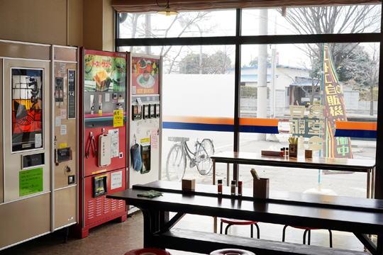 静かで落ち着いた店内。ゆっくり自販機フードを楽しめました。