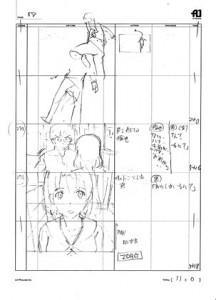 冴えカノ展展示例 コンテ1話
