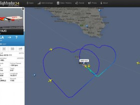 マルタ航空機の航跡データ