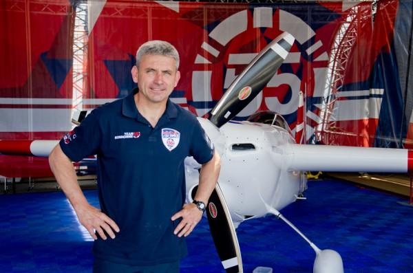 ブリティッシュ・エアウェイズのB747機長でもあるポール・ボノム選手