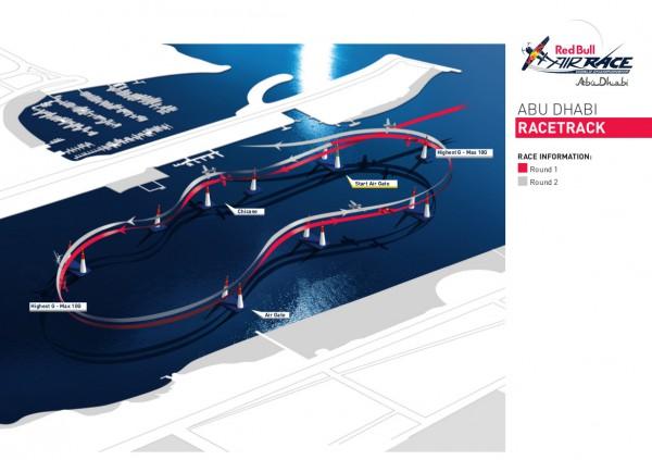 2015年アブダビ大会のレーストラック(画像提供:Red Bull)