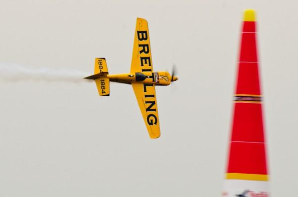 ルボット選手のトレーニングフライト