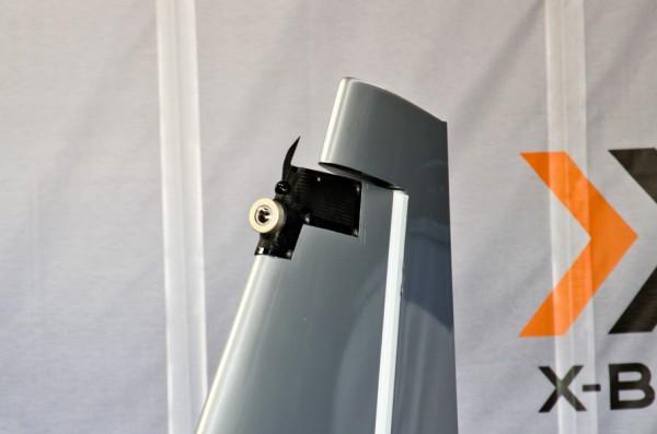 垂直尾翼に装着されたカメラ