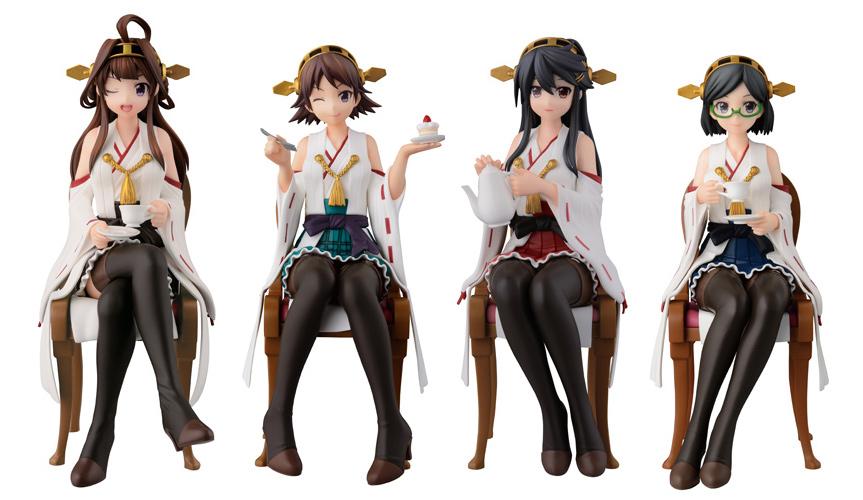 4姉妹でティータイム『艦これ』のキャラクター達がフィギュアで登場