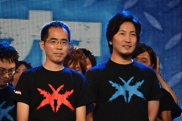 両軍の主将。小川選手(左)とウメハラ選手(右)