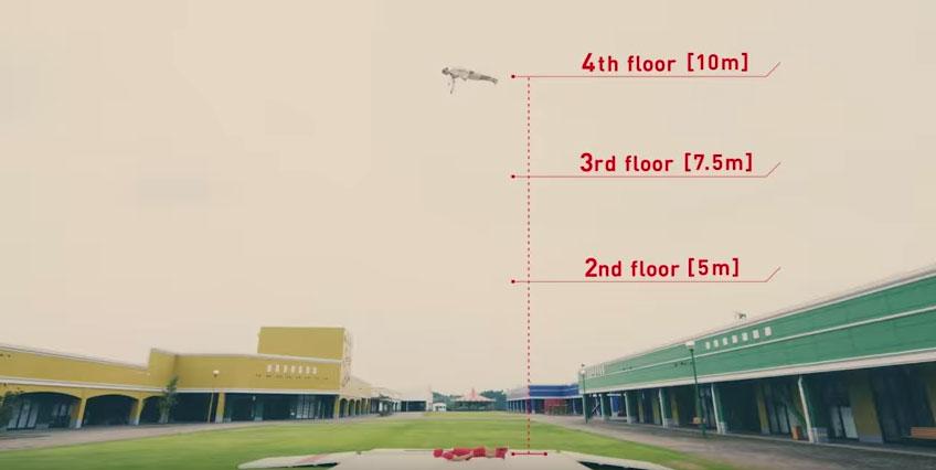 クレーンつかって『二階から目薬』本気出してやってみた 『四階から目薬』『六階から目薬』もあるよ