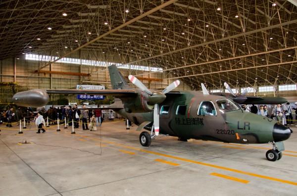 格納庫内のLR-1退役機