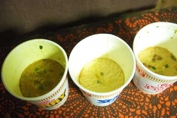 完成した3種の茶碗蒸し