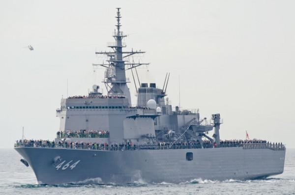 受閲第5群・掃海母艦ぶんご(MST-464)