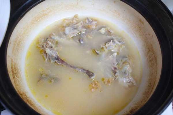 白湯スープになりました