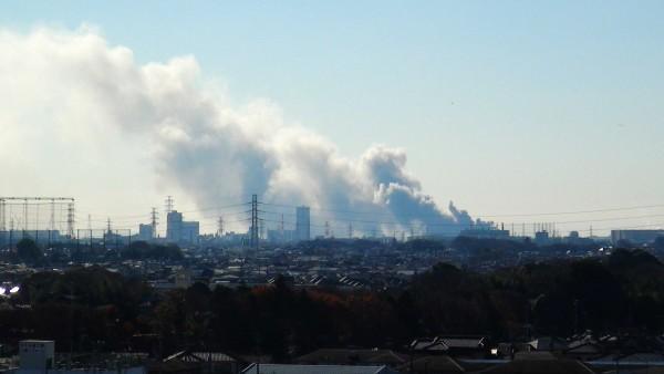 船橋市スクラップ置き場火災